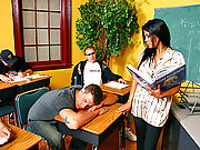 Alexis Amore getting fucked hard in a students classroom dream
