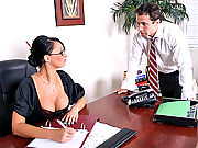 Busty Office Worker says yes to a big dick inside her tight pussy