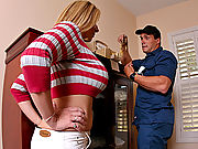 Sara Jay fucks the thiefs big hard cock